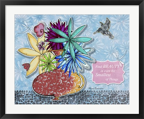 Framed Flower Pot 4 Print