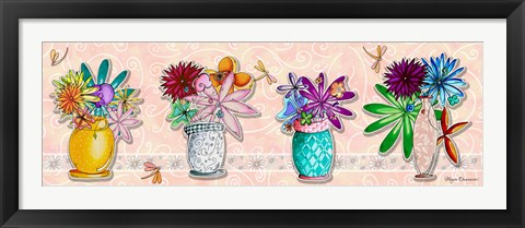 Framed Flower Pot SET 1 Print