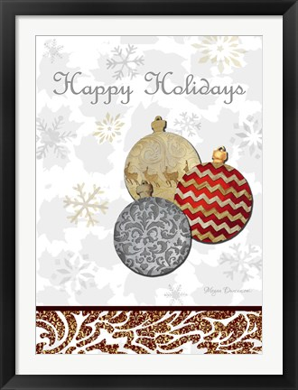 Framed Fancy Happy Holidays Print