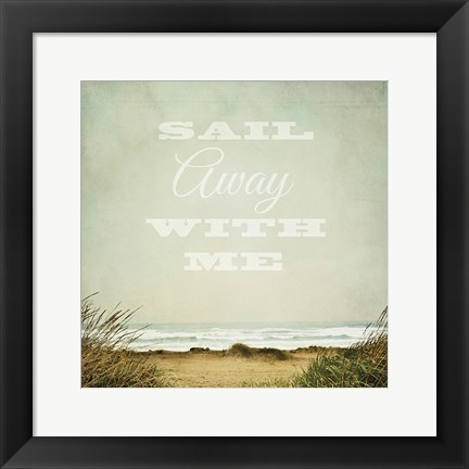 Framed Solace by the Sea Crop Inspiration Print