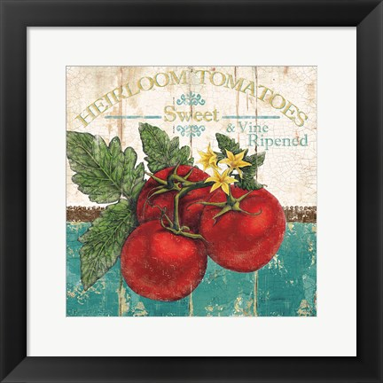 Framed Heirloom Tomatoes Print