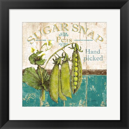 Framed Sugar Snap Print