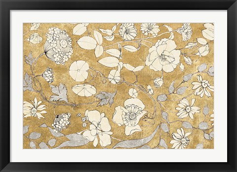 Framed Floral Joy II Print