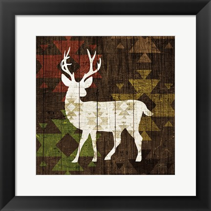 Framed Southwest Lodge - Deer I Print