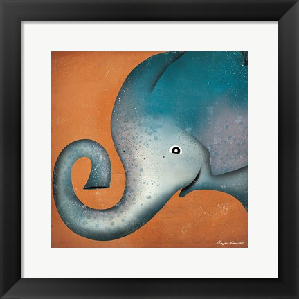 Framed Elephant WOW Print