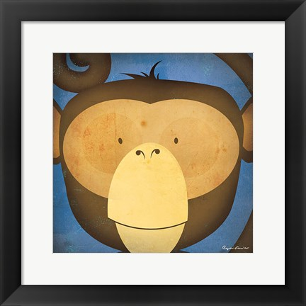 Framed Monkey WOW Print