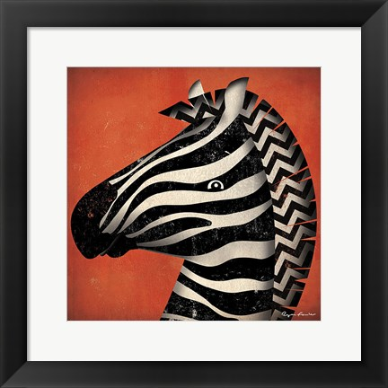 Framed Zebra WOW Print