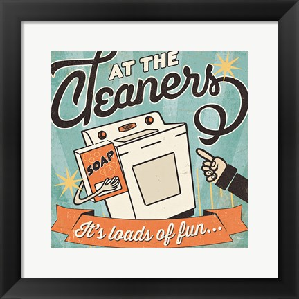 Framed Cleaners II Print