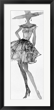 Framed Fashion Sketchbook V Print
