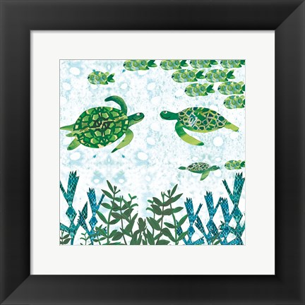 Framed Turtles Print