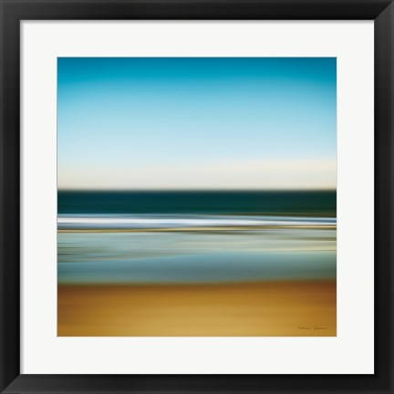 Framed Sea Stripes I Print