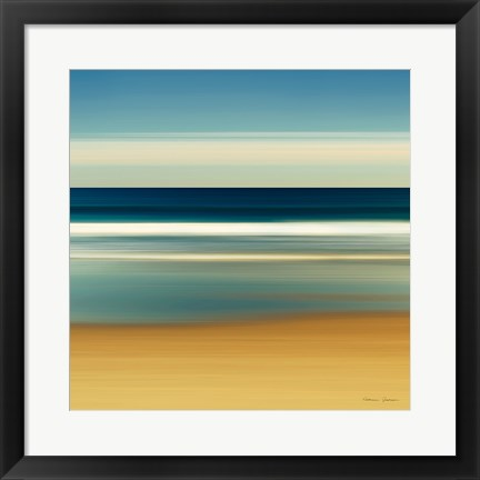 Framed Sea Stripes II Print