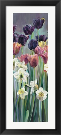 Framed Grape Tulips Panel II Print