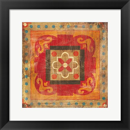 Framed Moroccan Tiles XII Print