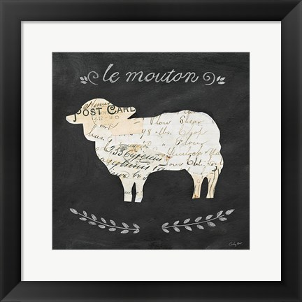 Framed Le Mouton Cameo Sq Print