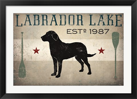 Framed Labrador Lake Print