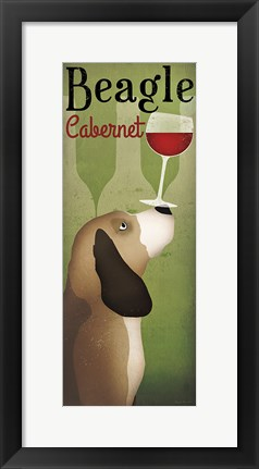 Framed Beagle Winery Cabernet Print