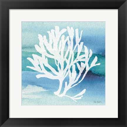 Framed Sea Life Coral I Print