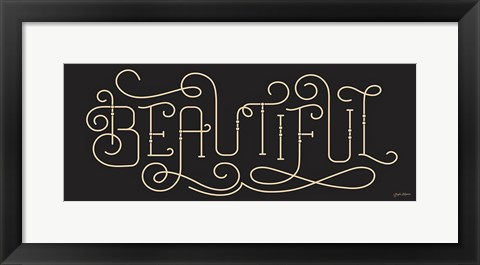 Framed Curly Script Beautiful Thick Print