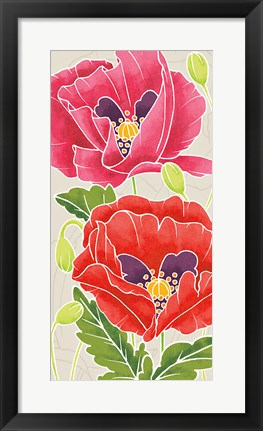 Framed Sunshine Poppies Panel II Print