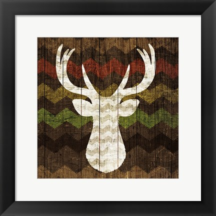 Framed Southwest Lodge - Deer II Print