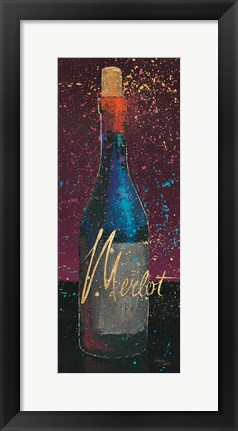 Framed Wine Splash Dark IV Print