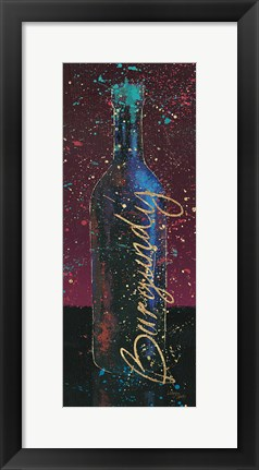 Framed Wine Splash Dark V Print