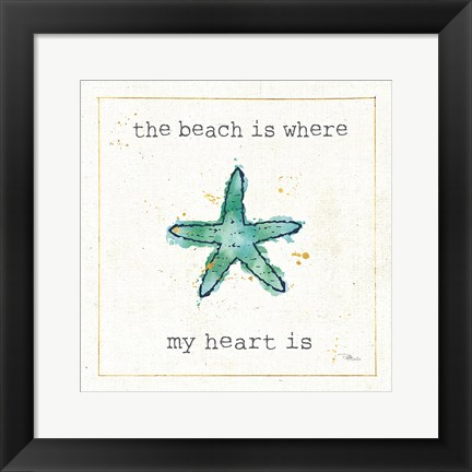 Framed Sea Treasures III Print