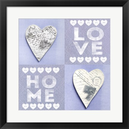 Framed Home Love Print