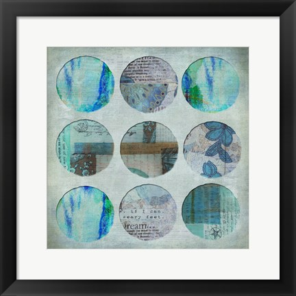 Framed Circle Turquoise Print