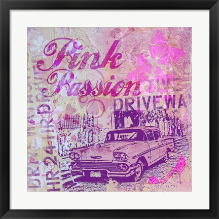 Framed Pink Passion Print