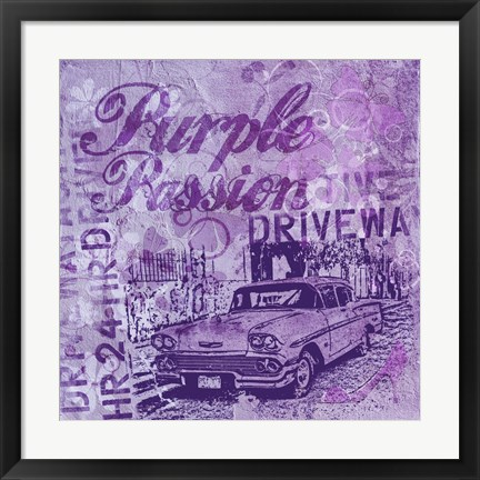 Framed Purple Passion Print