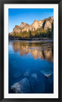 Framed Merced River in the Yosemite Valley Print