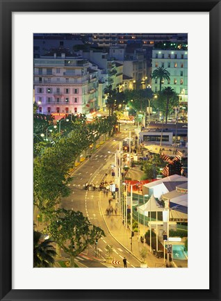 Framed Overview of La Pantiero, Cannes, France Print