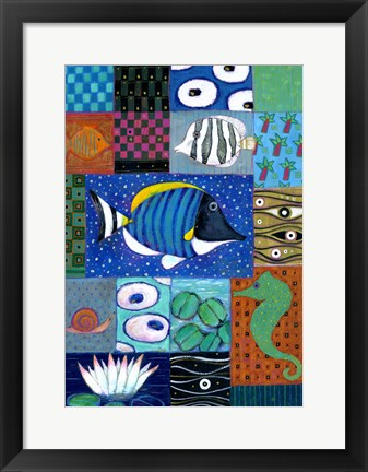 Framed Paradise Fish Print