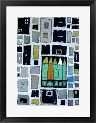 Framed Abstract Landscape II Print