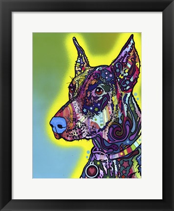 Framed Doberman Print