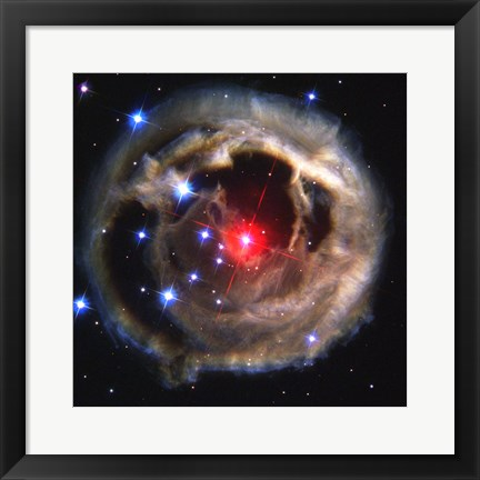 Framed Light Echo From Star V838 Monocerotis - December 17, 2002 Print