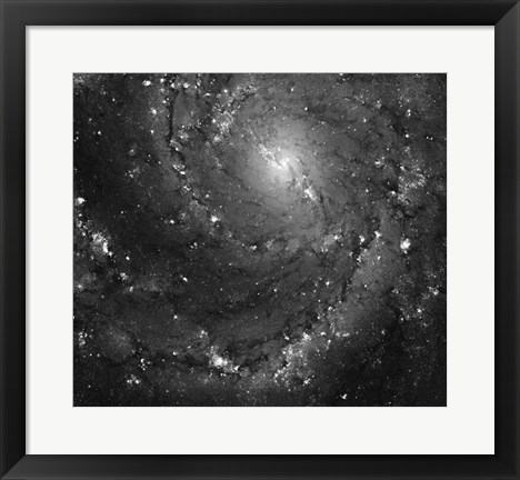 Framed Hubble Space Telescope Imaging of Hot Gas and Star Birth in M101 Print