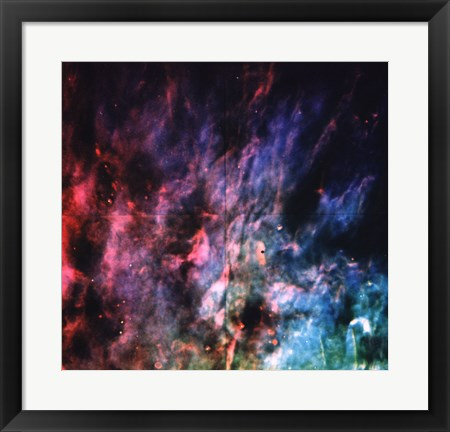 Framed Window-Curtain Structure of the Orion Nebula Print