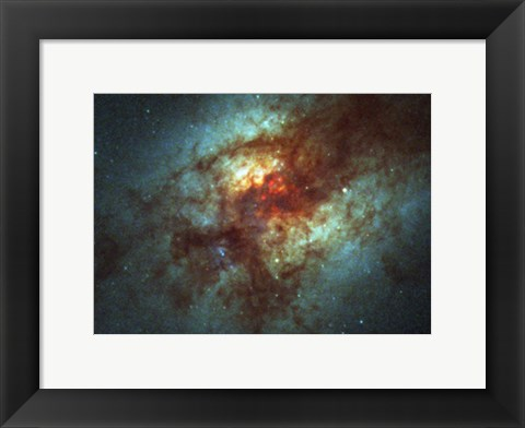 Framed Super Star Clusters in Dust-Enshrouded Galaxy Print