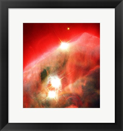 Framed Edifice of Gas and Dust in the Cone Nebula Print