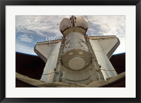 Framed Harmony Node in Space Shuttle Discovery's Cargo Bay Print