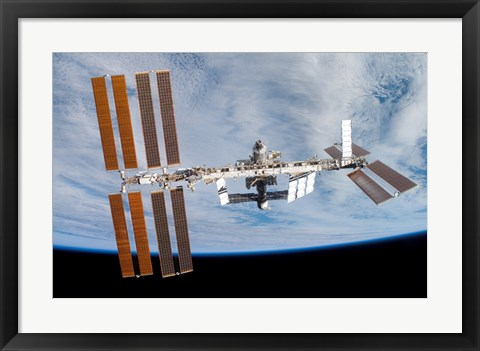 Framed International Space Station Print