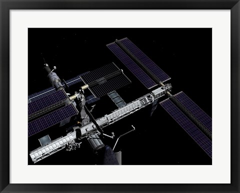Framed Graphic Rendering of the International Space Station Print