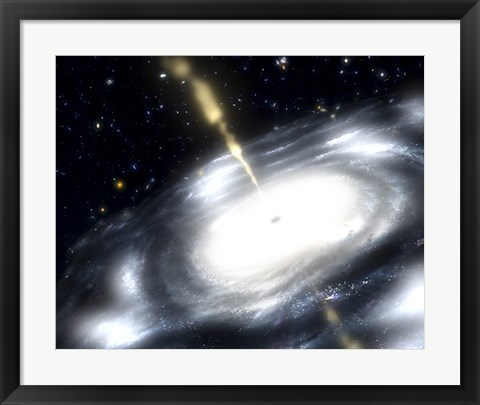 Framed Rare Galaxy that is Extremely Dusty, and Produces Radio Jets Print