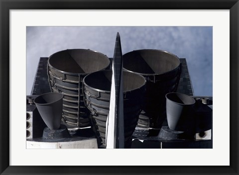 Framed Space Shuttle Discovery's Tail Section Print