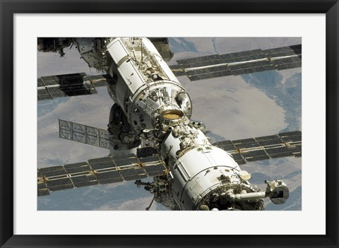 Framed Close Up View of International Space Station Print