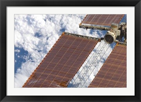 Framed Repaired Solar Array on the International Space Station Print