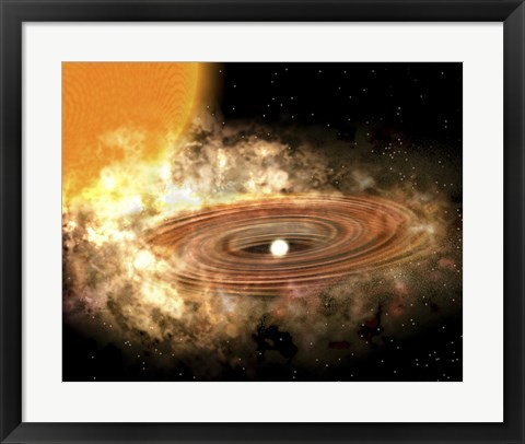 Framed Accretion Disk Around the Binary Star System WZ Sge Print